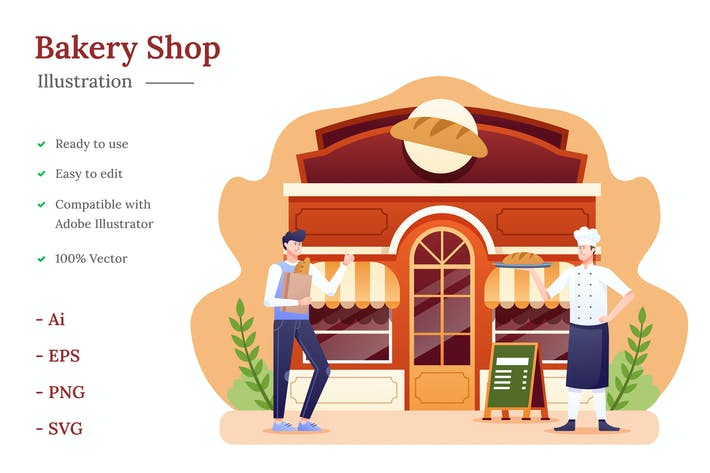 Thumbnail for Bakery Shop Illustration