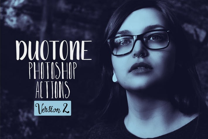 Thumbnail for Duotone Photoshop Acciones Vol. 2