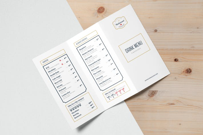 Thumbnail for Drink Menu Templates