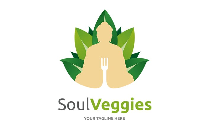 Thumbnail for Soul Veggies Logo Template