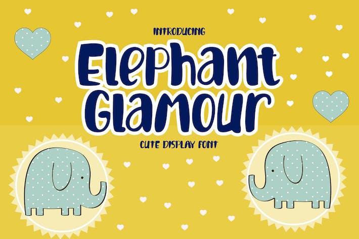 Fuente de visualización de elefante Glamour