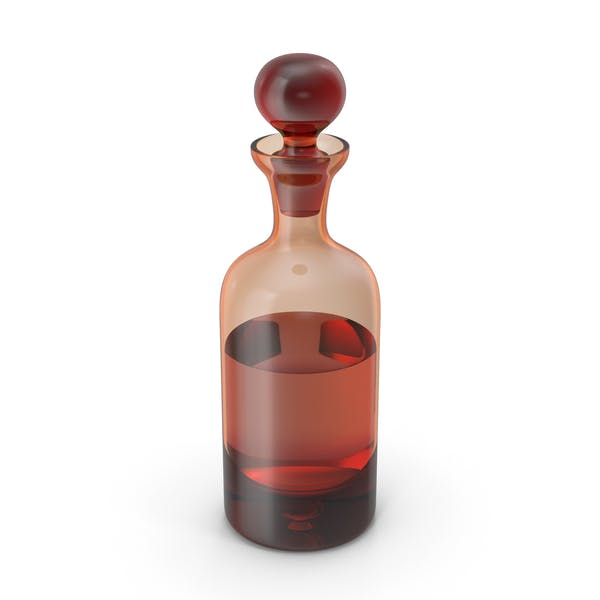 Стеклянный оранжевый графин с виски