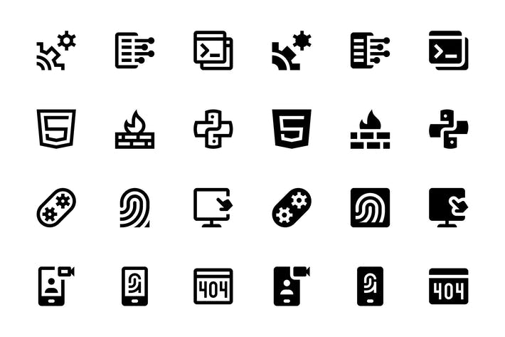Thumbnail for 136 Web & Mobile Development Icons