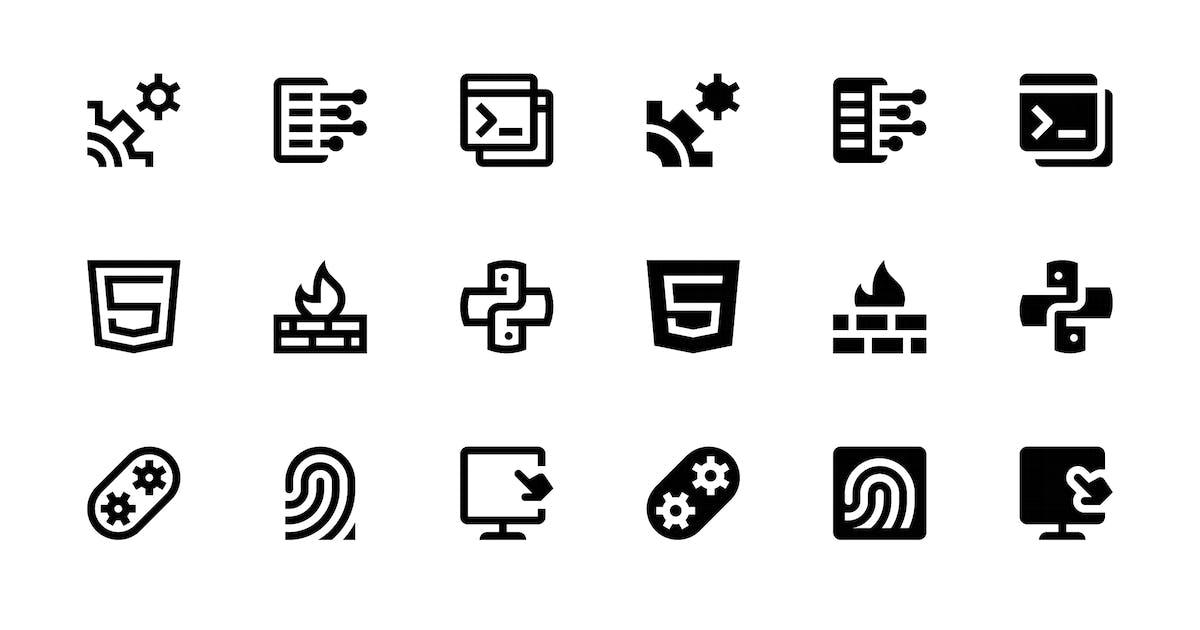 136 Web & Mobile Development Icons by polshindanil