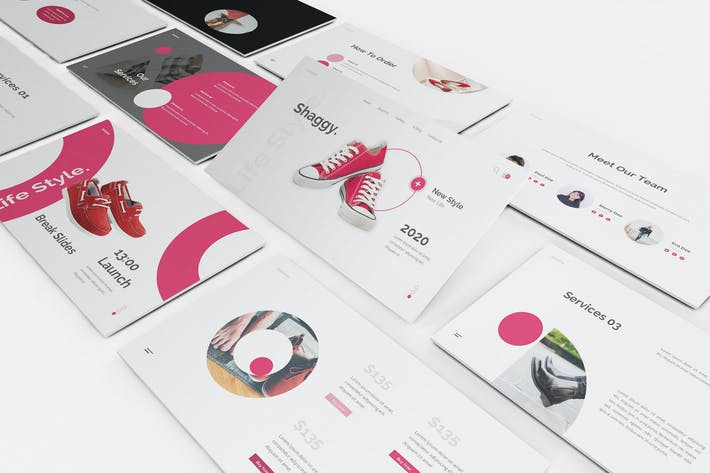Thumbnail for Shoes Store Google Slides Template