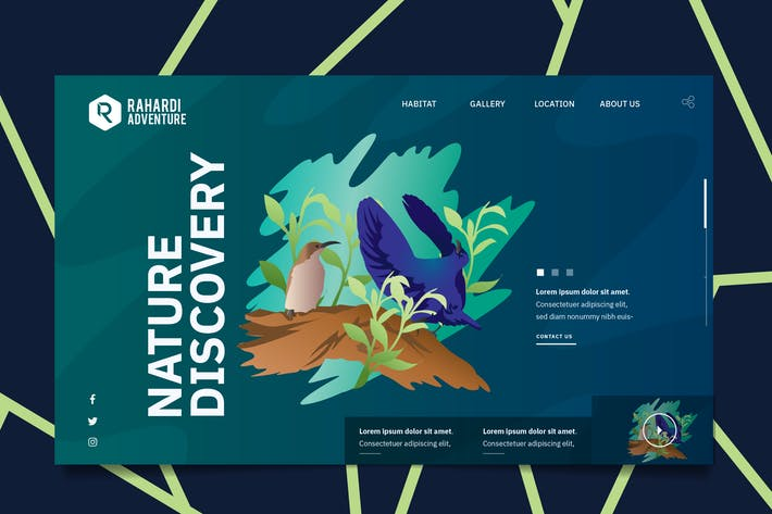 Thumbnail for Nature Wildlife Web Header PSD & Vector Template 2