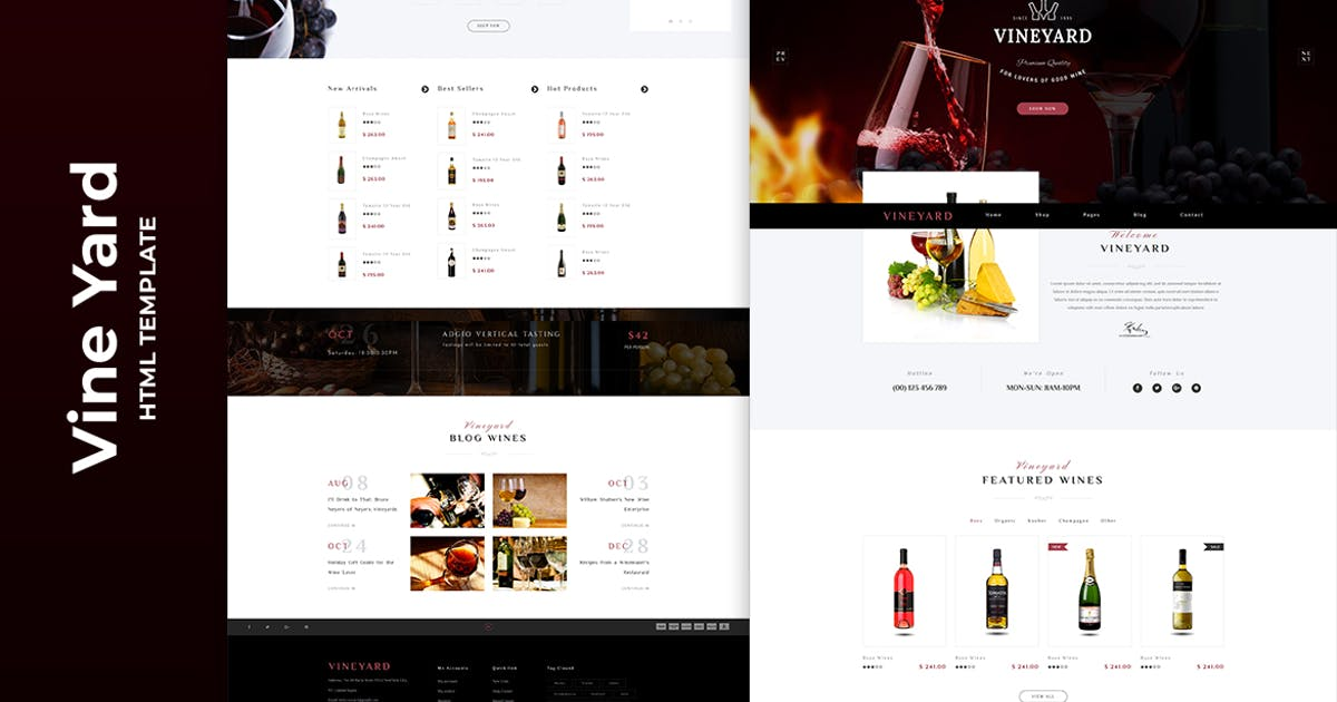 Download Vine Yard HTML Template by htmlbeans