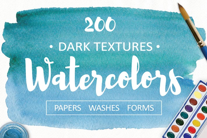 Cover Image For 200 Watercolor textures bundle
