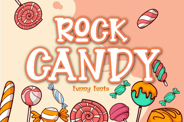 Rock Candy - Funny Font