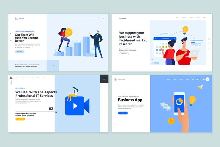 Thumbnail for Web Page Design Templates Collection
