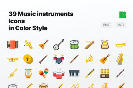 Color - Music Instruments