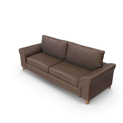 Sofa Leather Worn