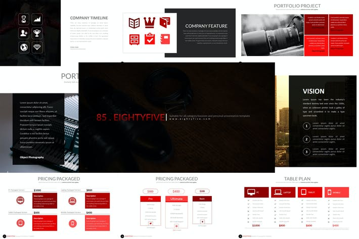 Thumbnail for Eighty 5 - Powerpoint Template