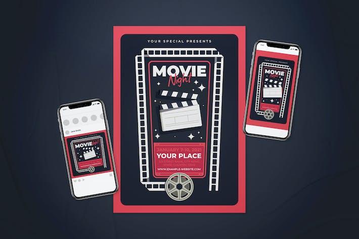 Thumbnail for Movie Night Flyer Set