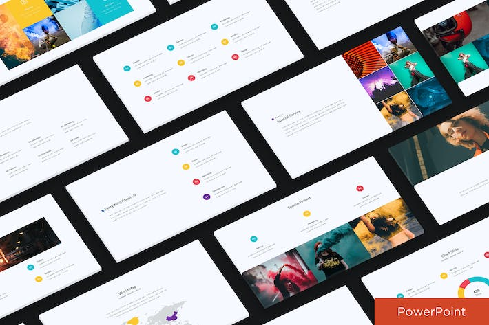Thumbnail for Colorfull Simple Presentation Template