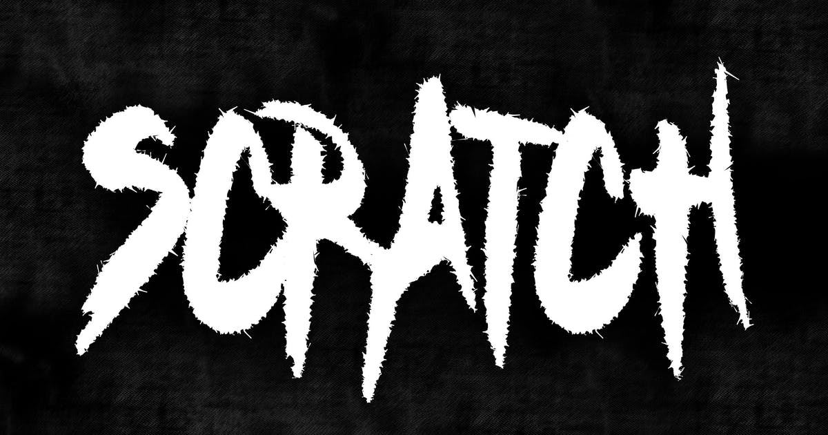 Download SCRATCH METAL FONT by shirongampus