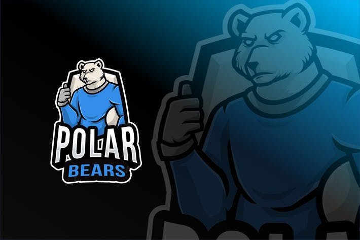 Thumbnail for Polar Bear Logo Template