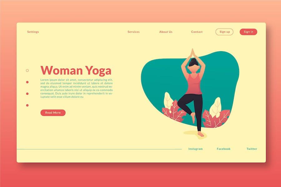 Woman Yoga - Landing Page GR