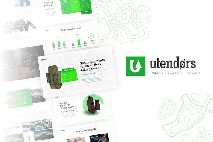 Utendors Наружное оборудование PowerPoint Шаблон
