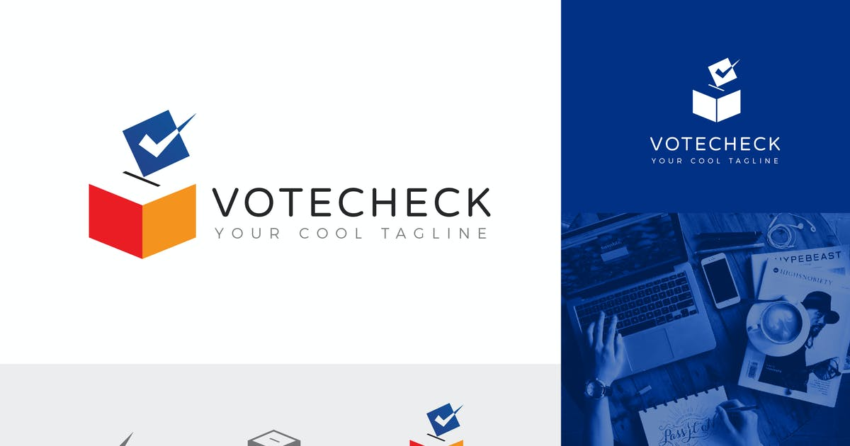 Download Vote Check Corporate Logo Vector Template by naulicrea
