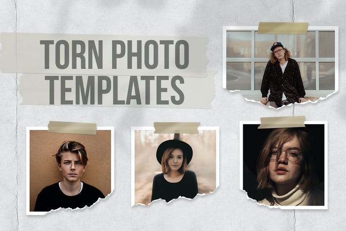 Thumbnail for Torn Photo Templates