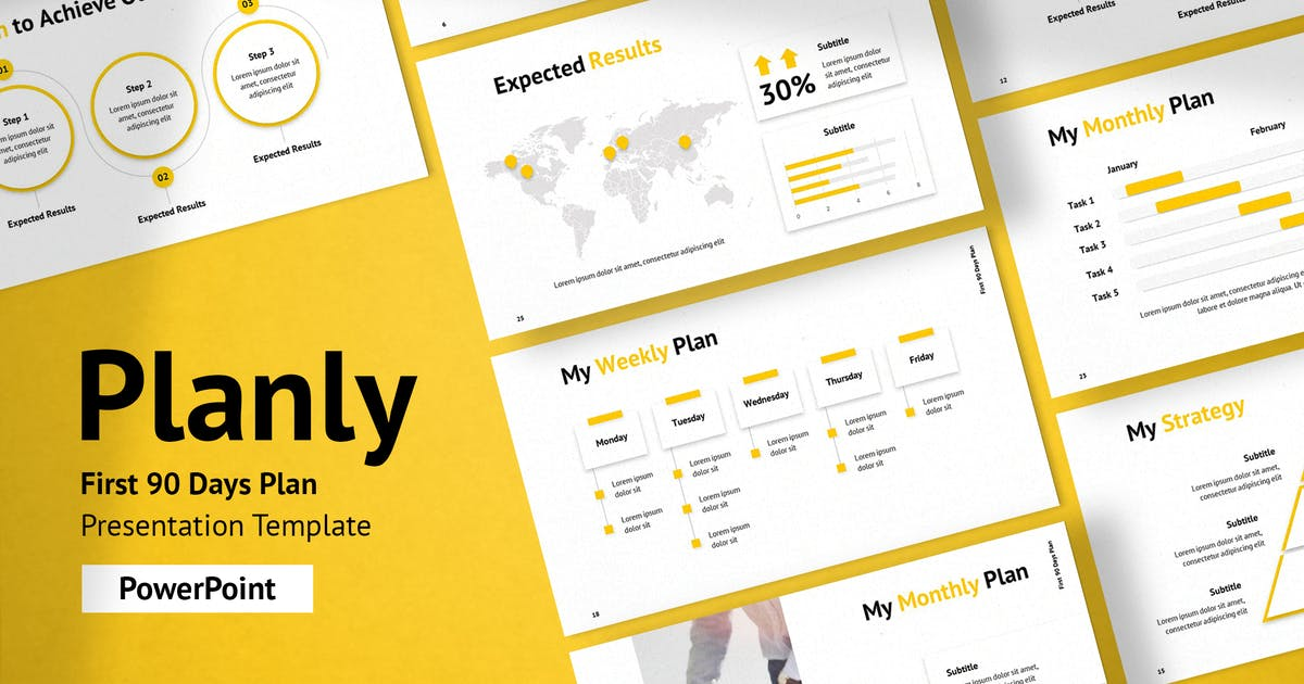 Download 90 Days Plan Presentation PowerPoint Template by Krafted