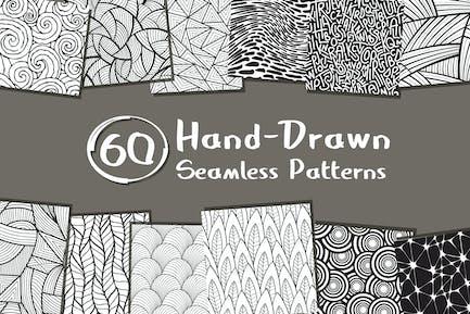 60 Seamless Hand-Drawn Patterns