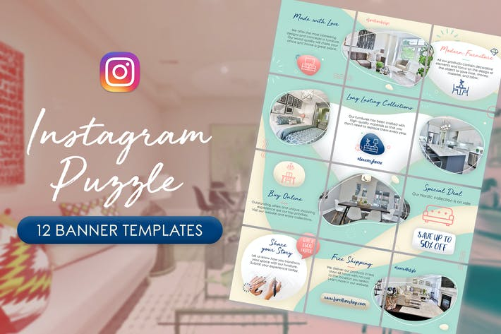Instagram Puzzle - Furniture Banners