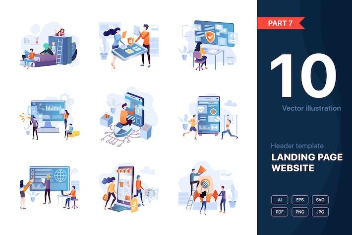 Thumbnail for [Part 7] Website Illustrations Set