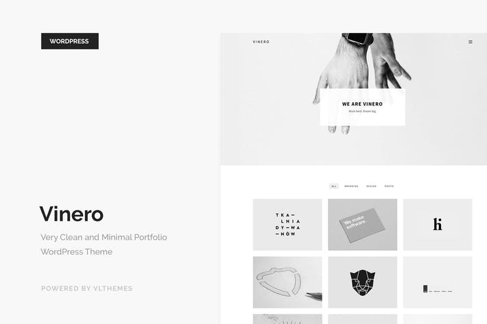 Thumbnail for Vinero - Very Clean and Minimal Portfolio WP Theme