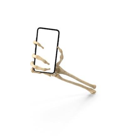 Skeleton Hand Holding a Smartphone Mockup
