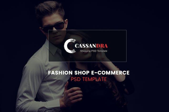 Thumbnail for Cassandra - Fashion Shop e-Commerce PSD Template