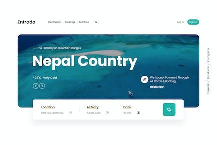 Emprise UI | Tour Travel Landing Page | Figma