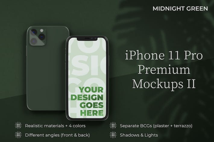 Thumbnail for iPhone 11 Pro Mockup Premium Templates II