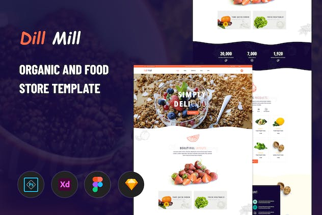 Dillmill - Organic and Food Store Template