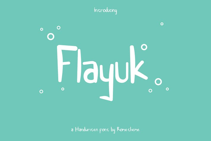 Thumbnail for Flayuk Display Font YR