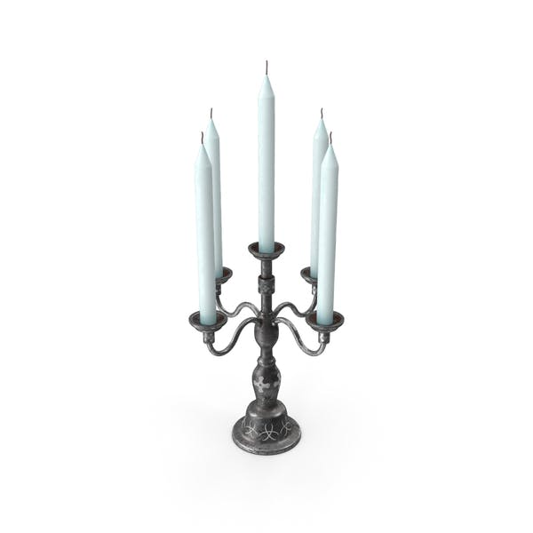 Candle Stand Black metal