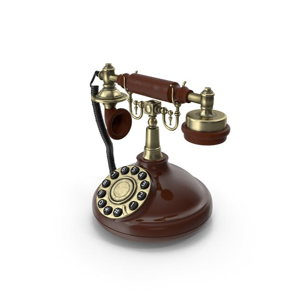 Teléfono antiguo con dial giratorio