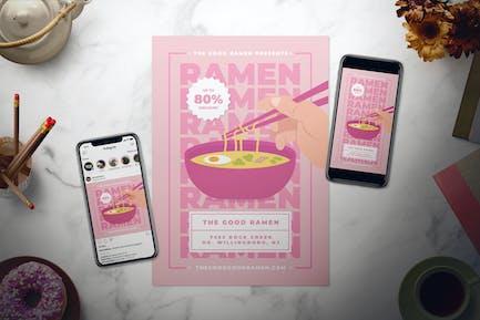 Ramen Food Flyer Set