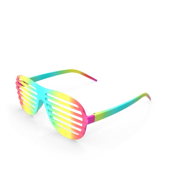 Party Rainbow Shutter Shades Glasses