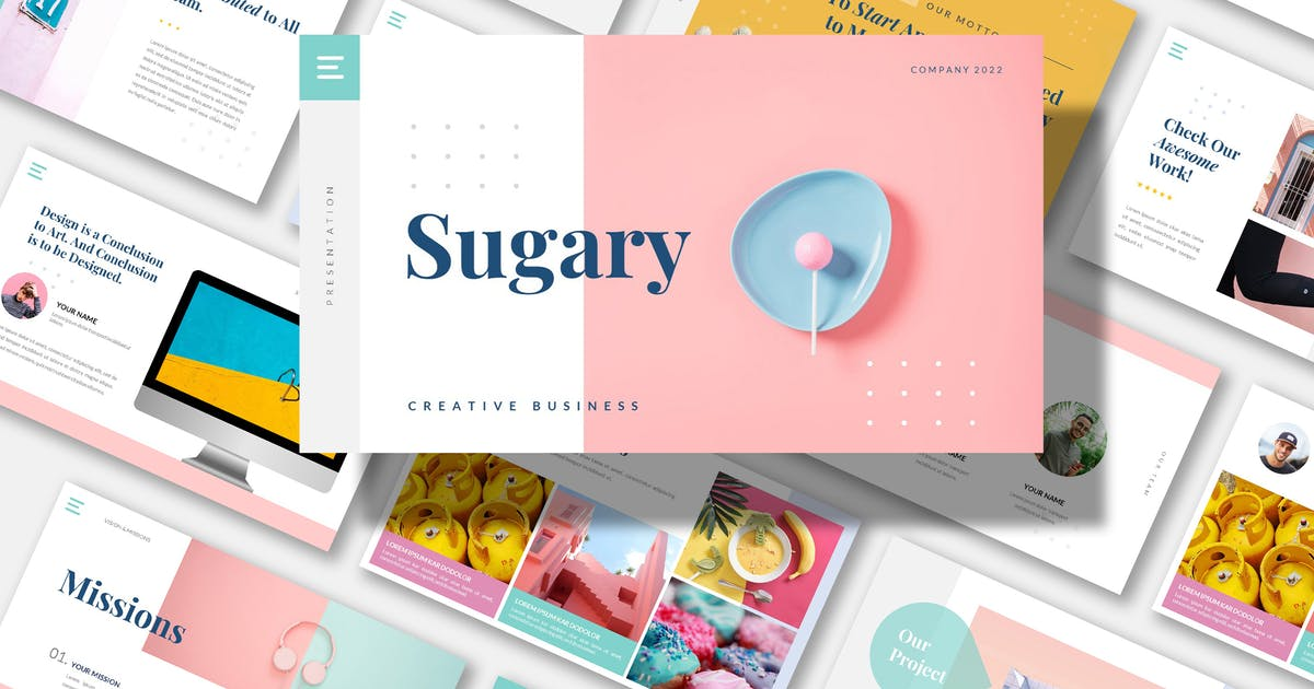 Download SUGARY - Creative Business Powerpoint by AmazingCreative