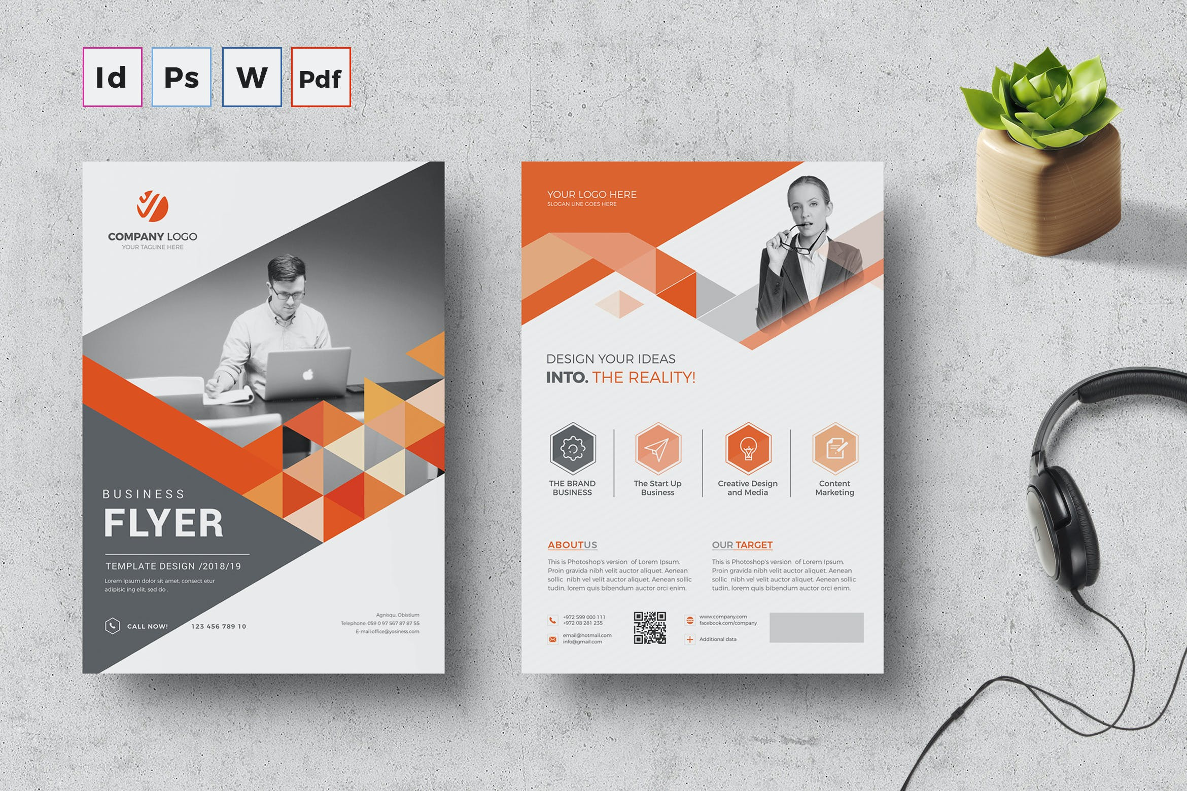 Corporate Flyer Template by Creativity-Design on Envato Elements