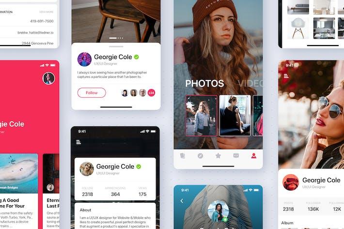 Thumbnail for User Profile Mobile App UI Kit