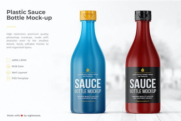 Thumbnail for Plastic Sauce Bottle Mock-Up Template