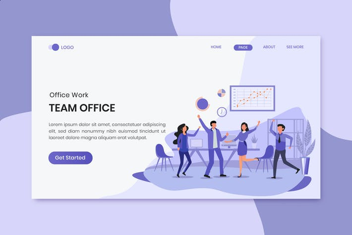 Thumbnail for Project Success Business Worker Landing Page