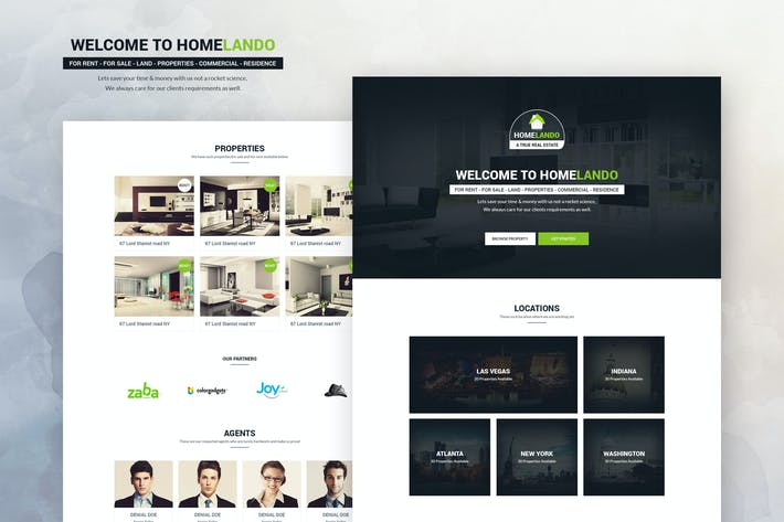 Thumbnail for Real Estate PSD Template