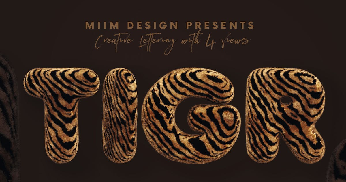 Download Tiger - 3D Lettering by cruzine