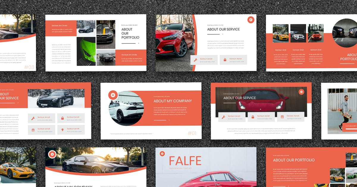 Download Falfe - Automobile Powerpoint Template by naulicrea