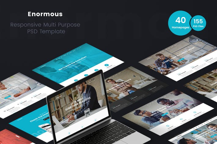 Thumbnail for Enormous - Business Multi-Purpose PSD Template