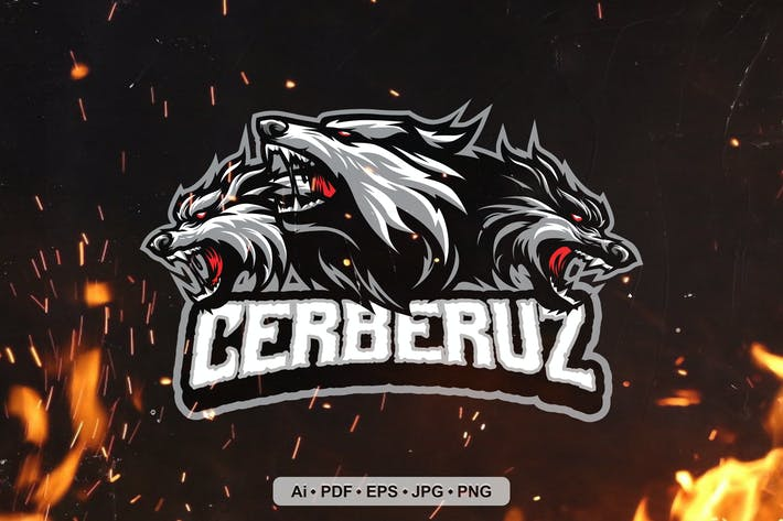 Cerberus Esport and Sport Mascot Logo